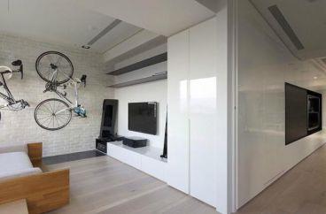 越湖名邸现代简约二室一厅装修效果图