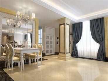 新生活家园商铺123平三室二厅装修效果图
