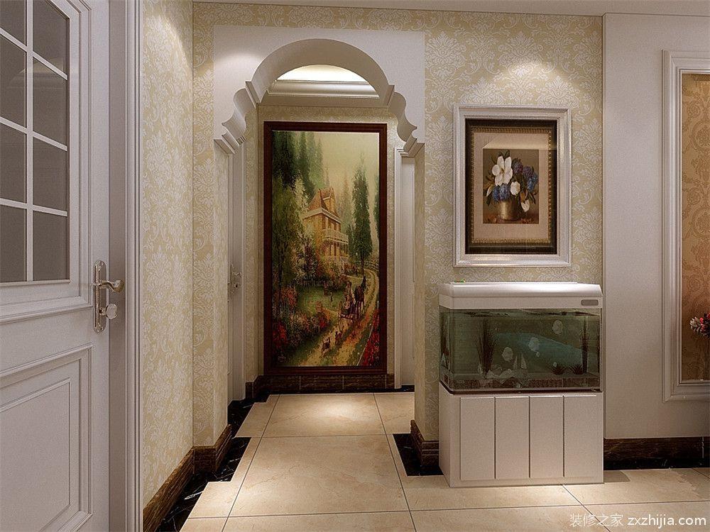 玄关处采用欧式的拱形门的设计,突出欧式豪华感.