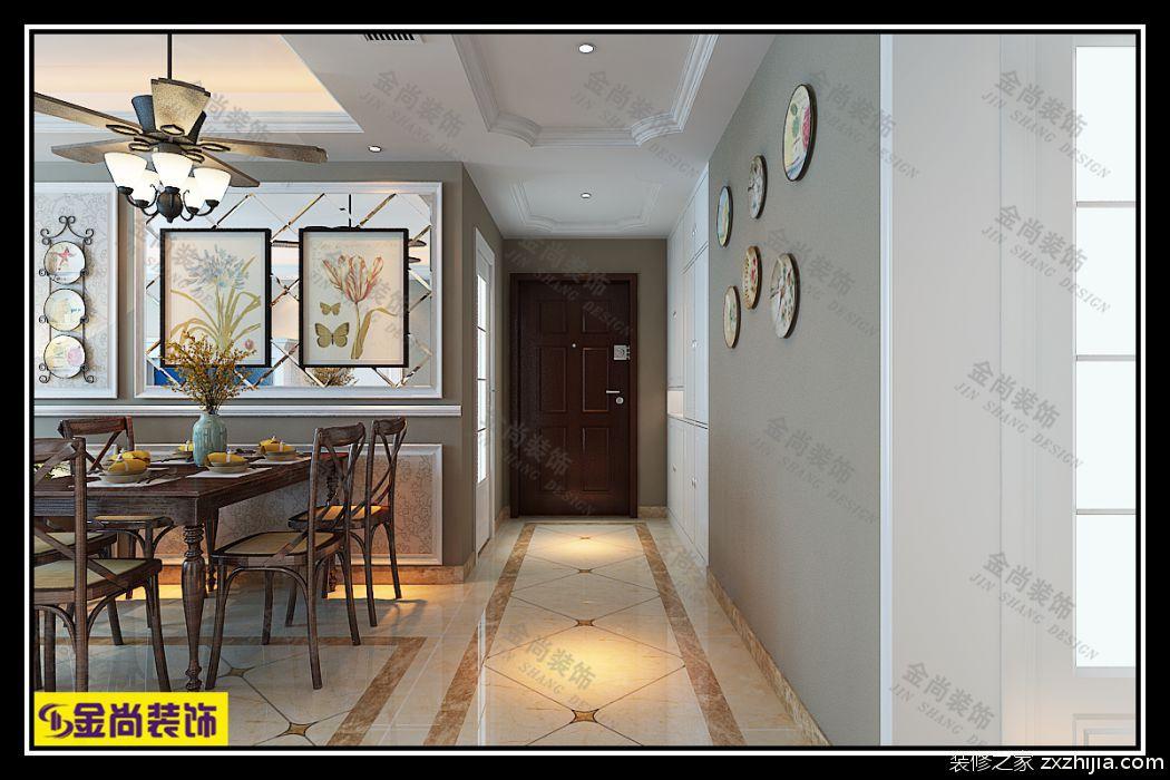 山水泉城全包二室一厅装修效果图