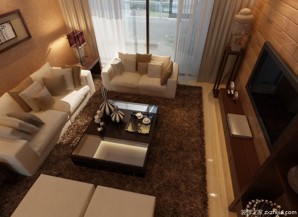 兰石豪布斯卡二室一厅全包装修效果图