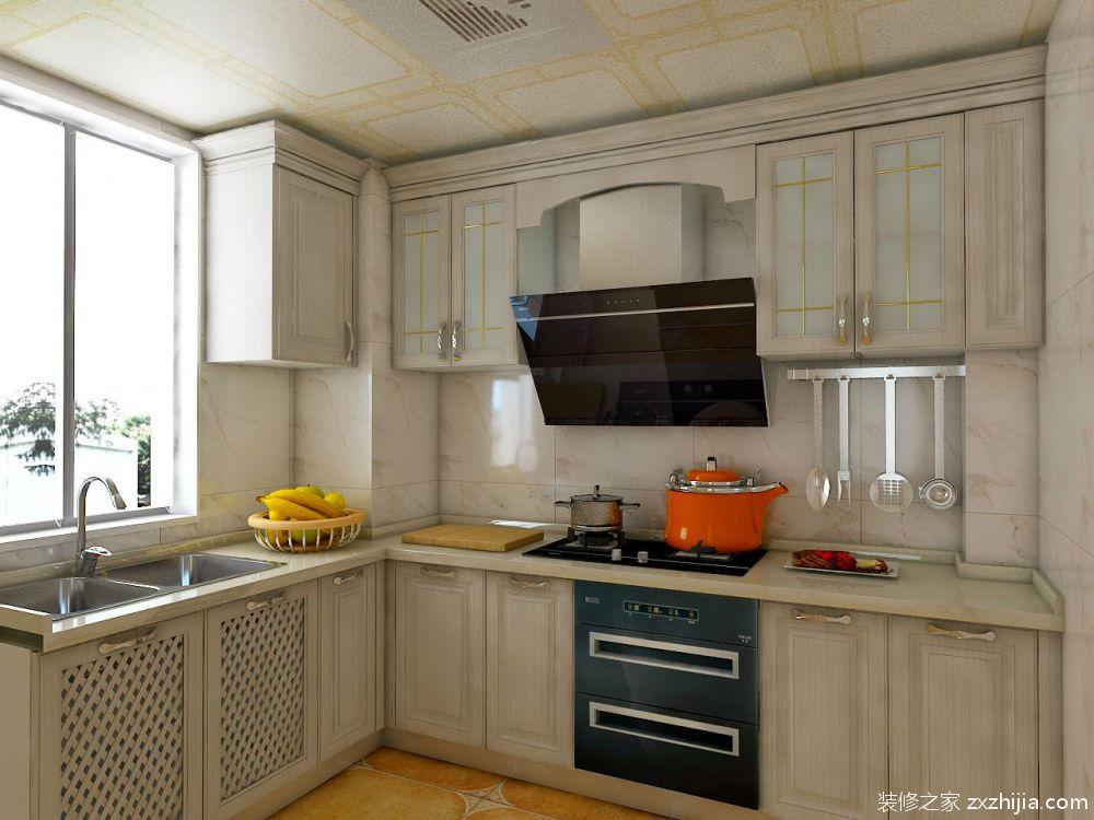 现代简约家装厨房餐厅吧台_装修123效果图