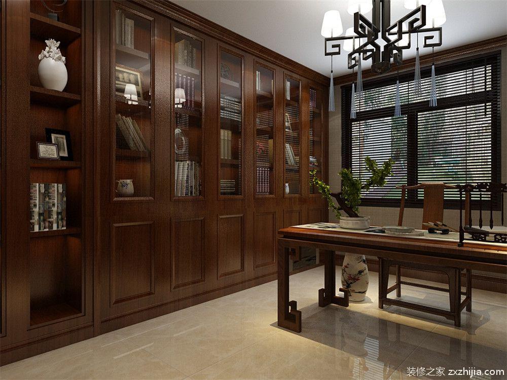 米兰紫芥园新中式书房效果图