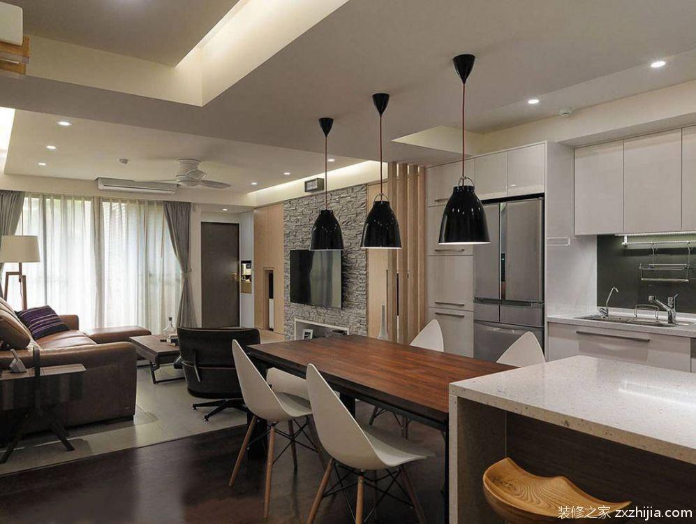 德胜新村现代简约二室一厅装修效果图