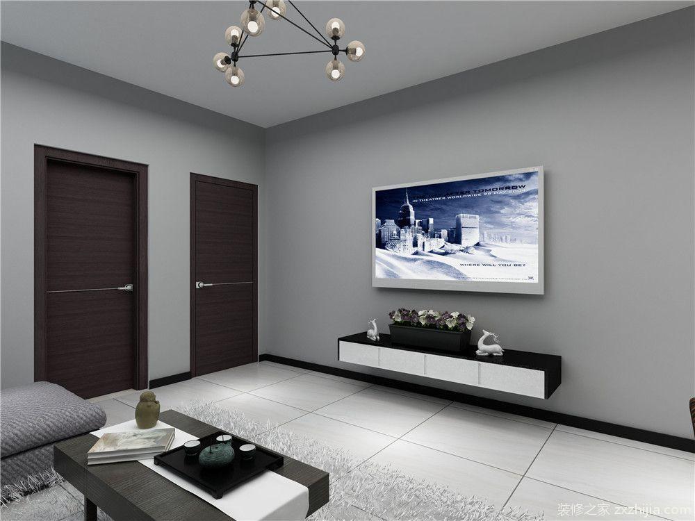 和通花园现代简约二室一厅装修效果图