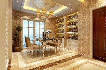 香江别墅全包180平欧式古典装修效果图