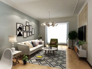 碧桂园·兰州新城半包四室二厅装修效果图