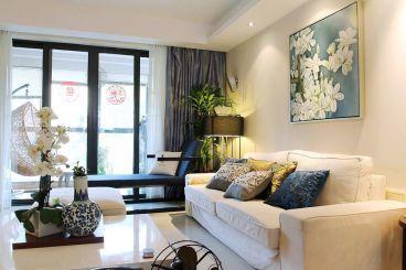 联投金色港湾新中式三室二厅装修效果图