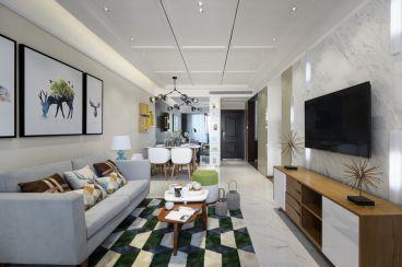 铂金名筑半包三室二厅装修效果图