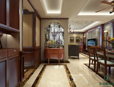 中建国熙台三室二厅161平装修效果图