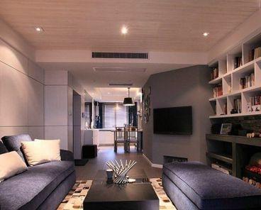 天纵半岛蓝湾二室二厅现代简约装修效果图