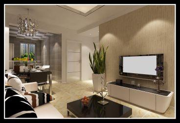 华邑世纪城二室一厅现代简约装修效果图