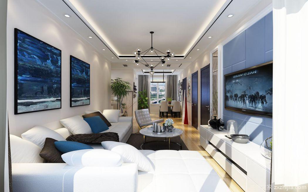 阳光印象64平二室二厅装修效果图