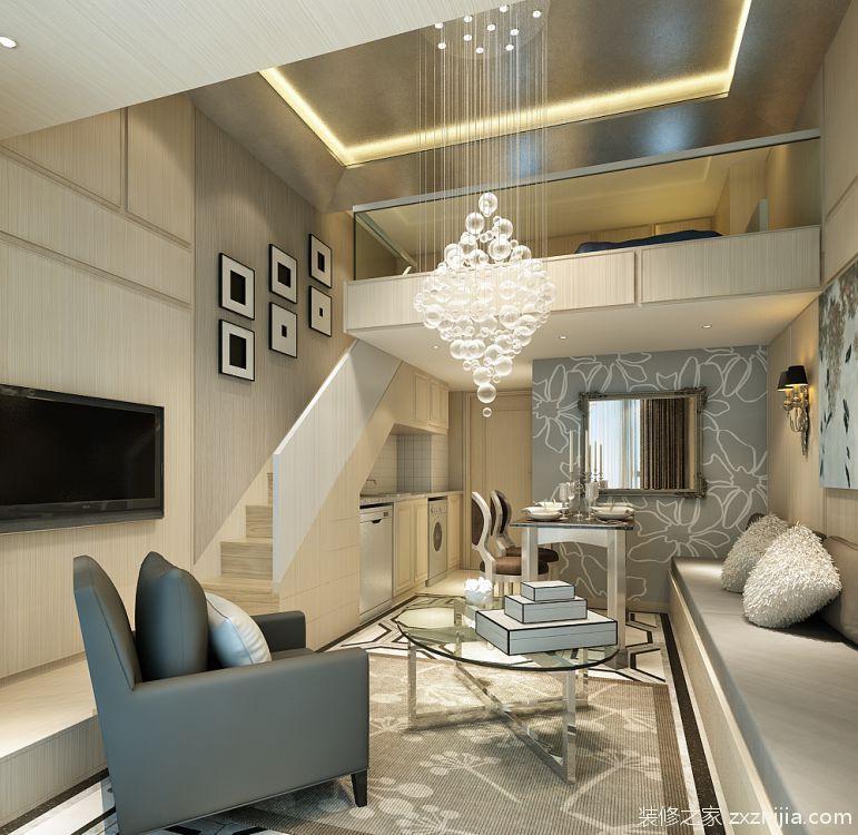 合景领峰公寓全包48平装修效果图