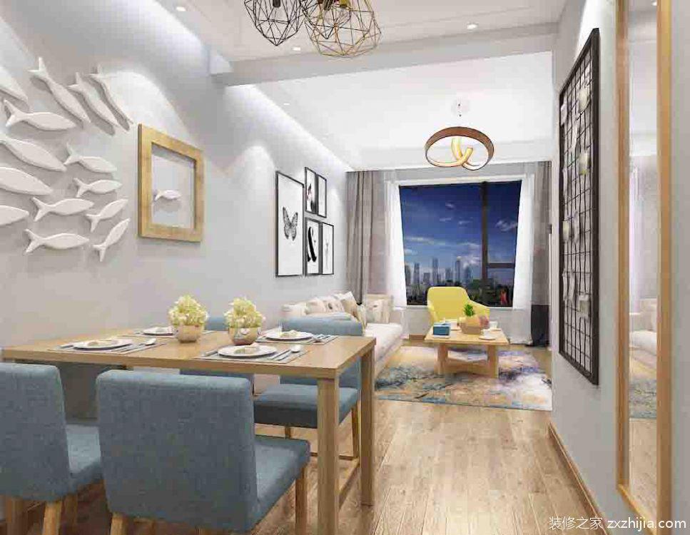 康桥 · 悦岛二室二厅全包装修效果图