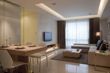 招商小石城桂花园现代简约二室二厅装修效果