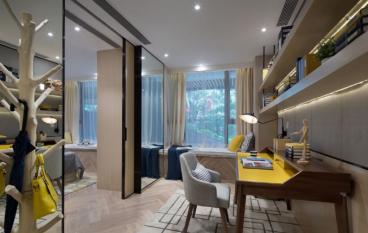恒盛豪庭现代简约三室二厅装修效果图