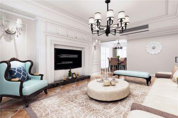 龙腾国际三室一厅美式装修效果图