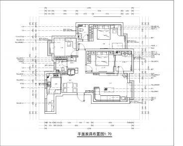 阿卡迪亚一区120平三室二厅装修效果图