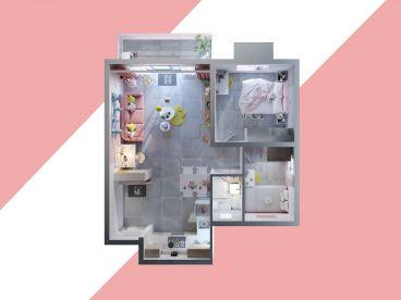 世袭雅园二室二厅全包装修效果图