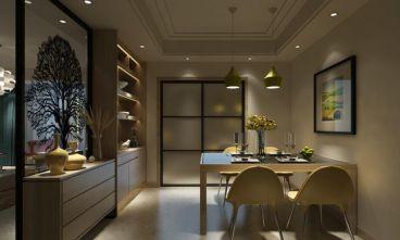绿地·滨湖印象二室一厅现代简约装修效果图