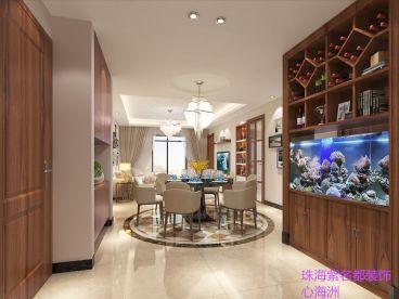 心海州现代简约三室二厅装修效果图