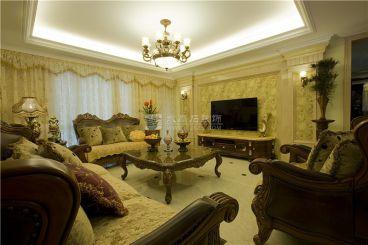 耀凯凤岭1号五室二厅欧式古典装修效果图