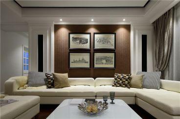梵石花园美式三室二厅装修效果图