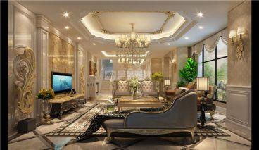 世贸·御龙墅300平四室二厅装修效果图
