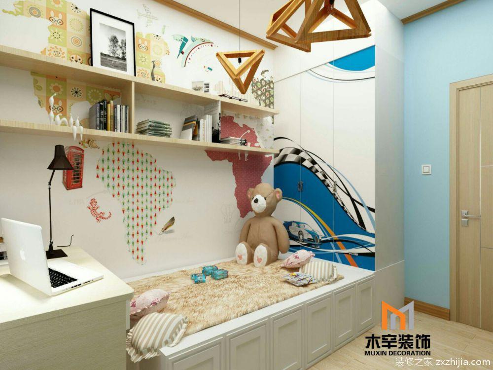 华邦蜀山里日式儿童房效果图图片