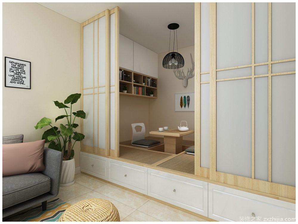 户型设计 文善里现代简约卧室效果图 主卧室做了一个分区,从中间分区