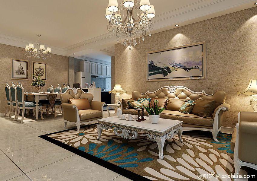 名优雅筑三室二厅158平装修效果图
