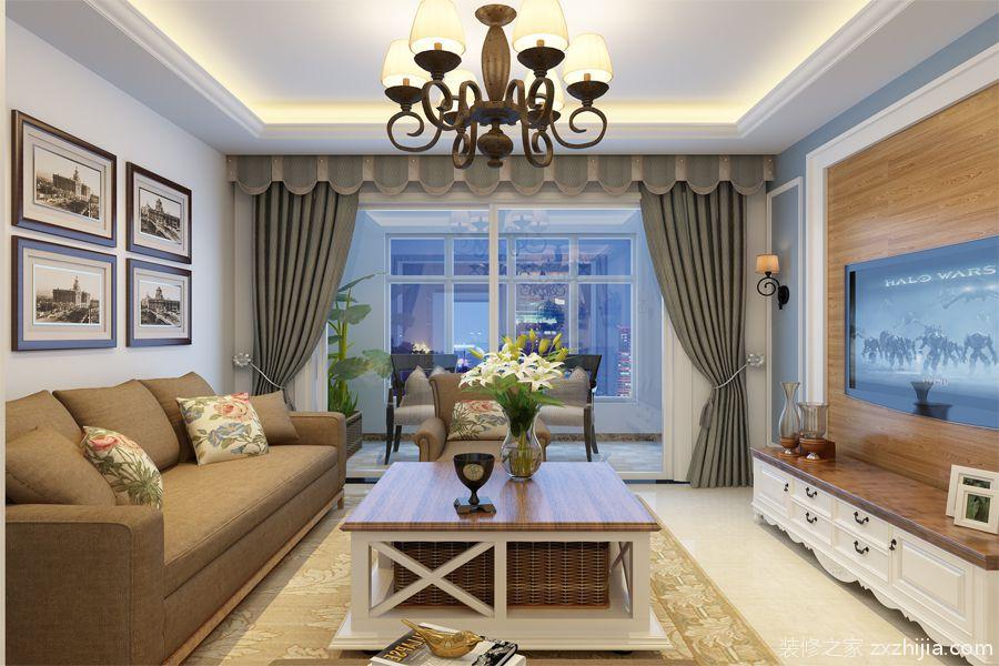 御海首府现代简约三室二厅装修效果图
