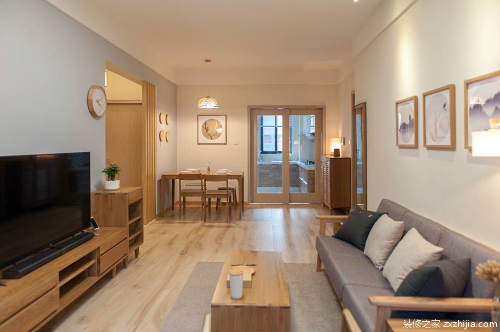 祈福新村绿怡居日式三室二厅装修效果图