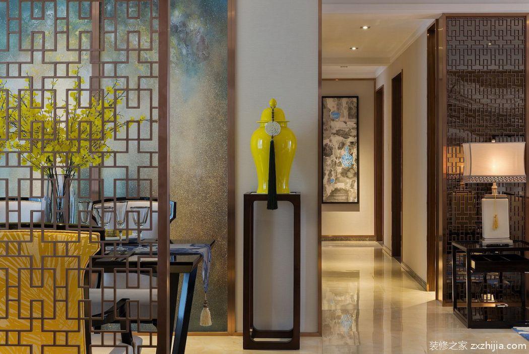 中洲花园新中式廊道效果图