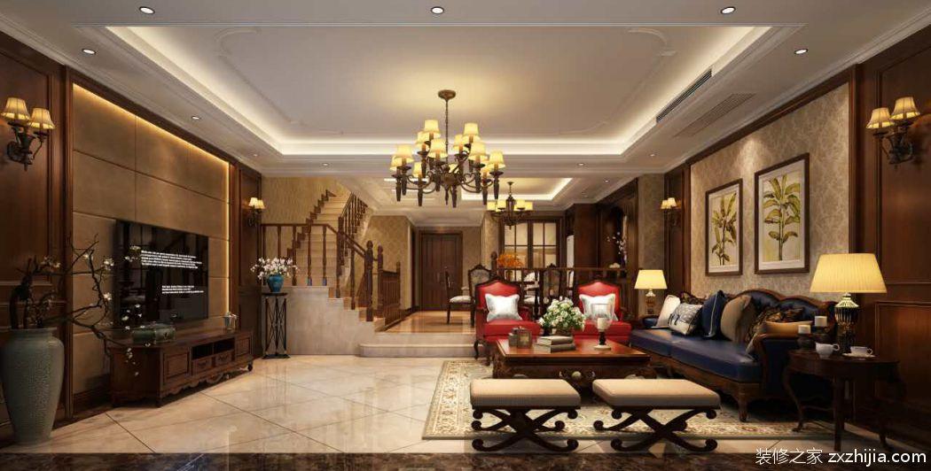 万达华府三室二厅欧式古典装修效果图