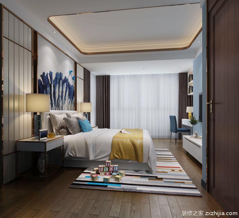 格力海岸新中式卧室效果图图片