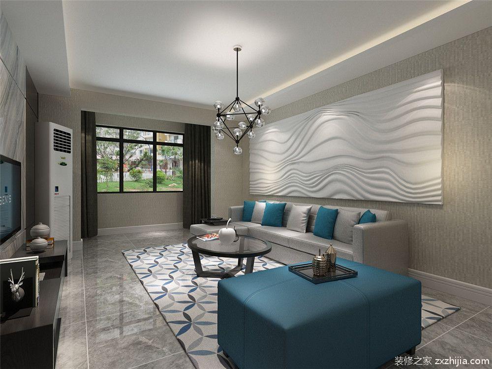 力高阳光海岸现代简约三室二厅装修效果图