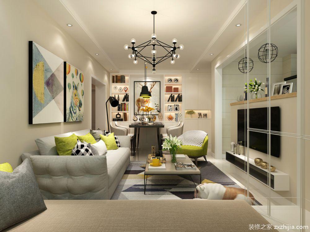 夏霖园后现代二室二厅装修效果图