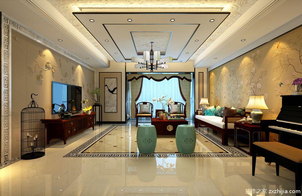 香海园 中式客厅效果图