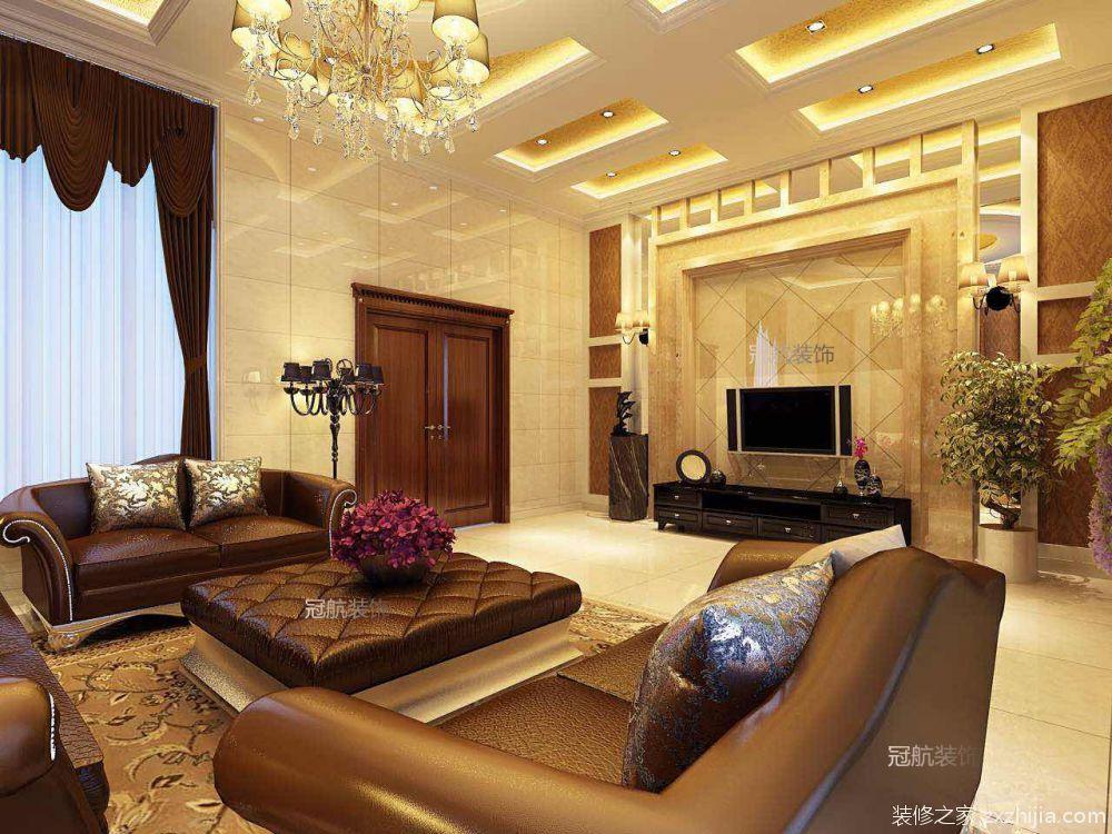 香城花园别墅欧式古典客厅效果图