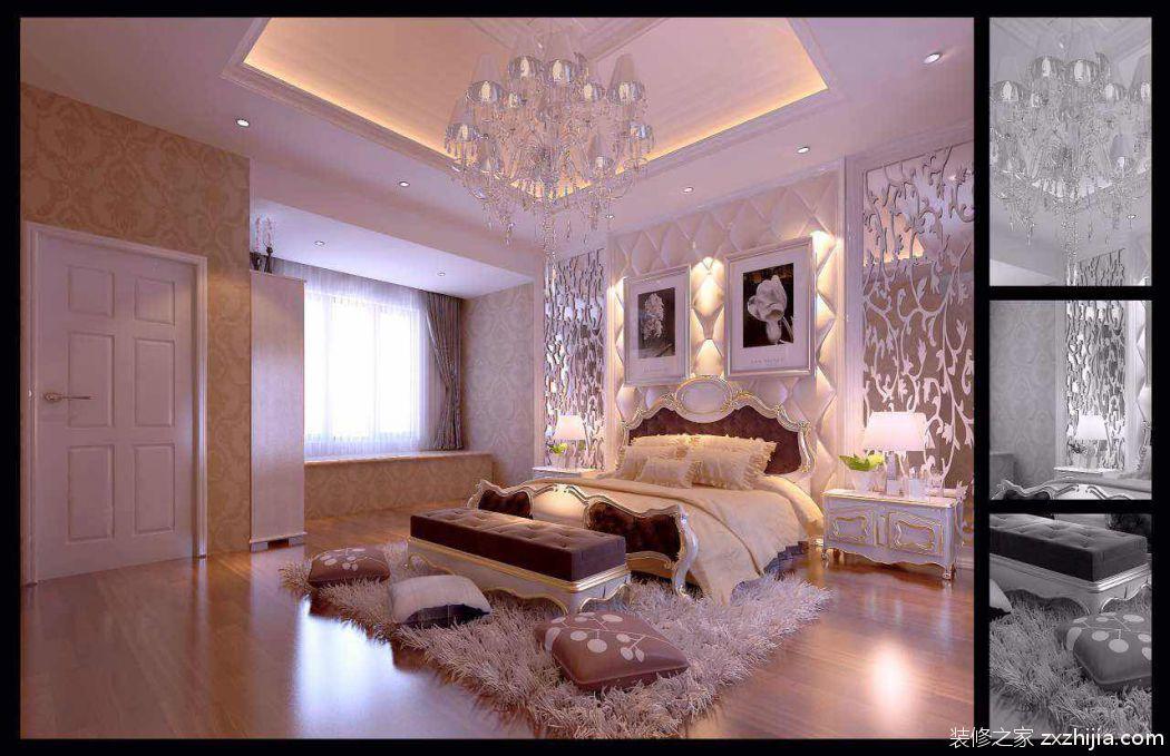 香城花园别墅欧式古典卧室效果图