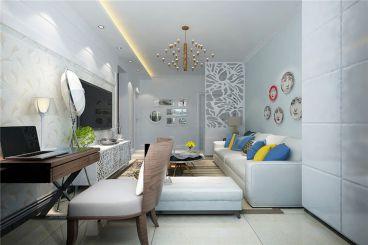首创光合城二室一厅现代简约装修效果图