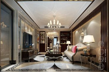 玉兰花园三室一厅欧式古典装修效果图