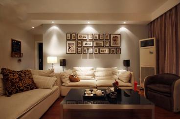 蜀都万达广场现代简约三室二厅装修效果图