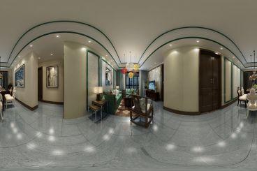保利达·江湾城三室一厅新中式装修效果图