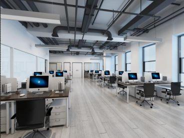 蜀山产业园办公室一室零厅全包装修效果图