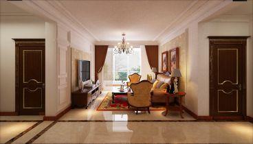 格林玫瑰湾三室一厅126平装修效果图