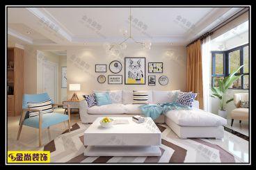 银盛泰金域蓝山三室二厅117平装修效果图
