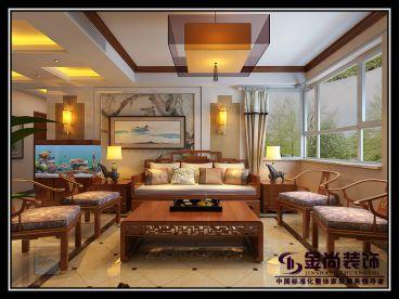 中建国熙台161平四室二厅装修效果图